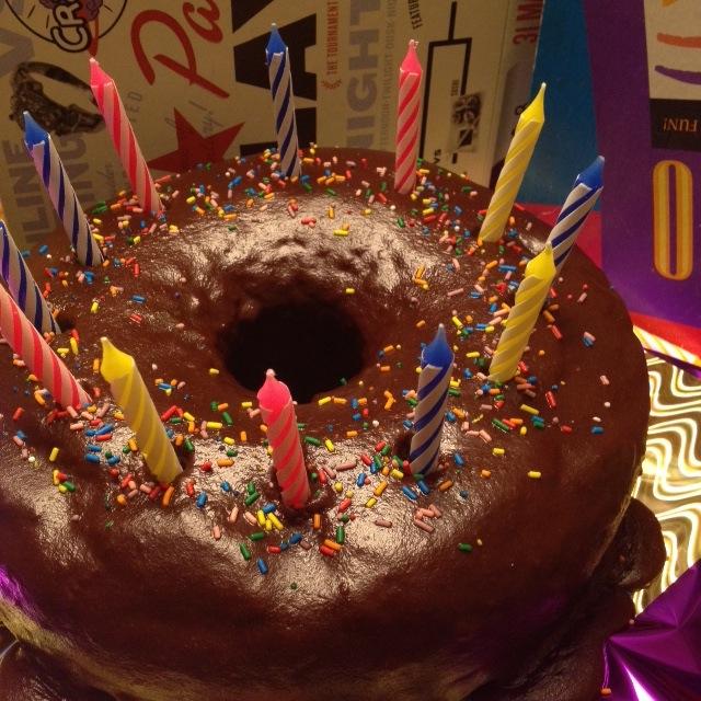 A BIG GIANT DONUT CAKE